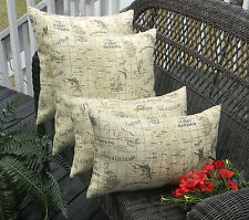 4 Pack Ivory Beach Island Bahama Decorative Throw Pillow Covers Indoor Outdoor
