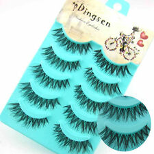 5 Paar Makeup Handmade Long Thick Curl Cross False Eyelashes Künstliche Wimpern