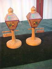 Mid-Century St. Petersburg Wooden Lamp Post Salt & Pepper Shakers-Free Shipping