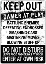 Keep Out Gamer At Play Enter At Own Risk Novelty Tin Sign Funny