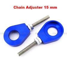 Blue 15mm Chain Adjuster Tensioner For Atv Quad CRF50 KLX110 SSR Pit Dirt Bike