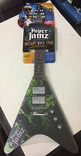Wow Wee Paper Jamz Guitar Series 2 New (black, green design) toy practice music