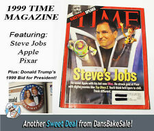Time Magazine 1999 Oct  Featuring Steve Jobs, Apple, Pixar, Trump for President!
