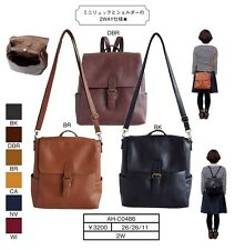 anello LEATHER 2-Way Mini Backpack Rucksack + Cross Body Messenger Shoulder Bag