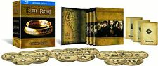 The Lord of the Rings Trilogy 15 Discs Extended Edition Blu Ray Box Set New UK