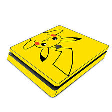 Skin Decal Cover Sticker for Sony PS4 Slim - Pokemon Pikachu