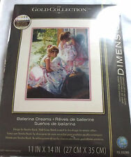 Ballerina Dreams Counted Cross Stitch Kit, Dimensions, Gold Collection, Ballet