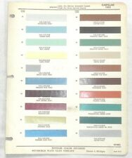 1955 CADILLAC PPG COLOR PAINT CHIP CHART ALL MODELS ORIGINAL