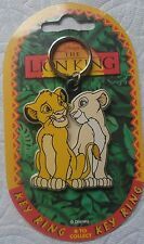 DISNEY THE LION KING YOUNG SIMBA AND NALA KEY RING/CHAIN MADE IN UK, MOC