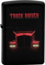 ZIPPO Feuerzeug TRUCK DRIVER Black matte LKW Truck Lastzug NEU OVP Sammlerstück