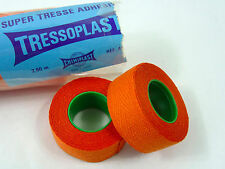 Tressoplast handlebar tape Cloth pair of Orange 2 rolls Vintage Bicycle NOS
