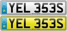 Cherished número plate-yel 353s-Amarillo-yel-Scream Amarillo Ferrari número