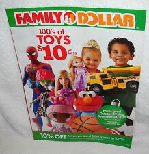 #5997 Family Dollar Stores 2012 Holiday Toy Catalog