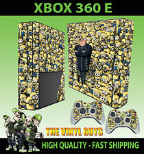 XBOX 360 E DESPICABLE ME MINIONS COVERED GRU 001 STICKER SKIN & 2 PAD SKIN