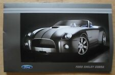 FORD SHELBY COBRA Concept 2004-05 USA Mkt 45p spiral-bound Press Media Brochure