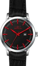 Invicta Men Specialty Quartz 100m Stainless Steel Nero/Moro Leather Watch 22315
