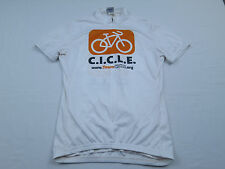 Womens Voler Team Cicle White Set-In MTB Mountain Bike Race Cycling Jersey Sz S