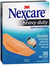 Nexcare Heavy Duty Flexible Fabric Bandages One Size 30 Each (Pack of 9)