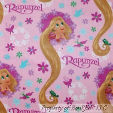 BonEful Fabric Fleece BT2Y 2 Yards Pink Girl Disney Rapunzel Princess Doll Dress