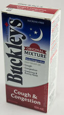 BUCKLEY'S COUGH COLD & CONGESTION SYRUP 100mL NIGHTTIME CANADIAN