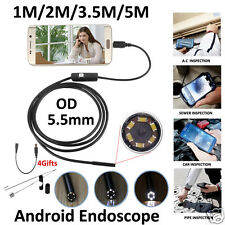 5.5mm Lens Endoscope Inspection Handheld 6 LED Waterproof Borescope For Mobile