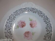 Vintage FRENCH Porcelain SEVRES Bowl PINK ROSES Signed 10.75""