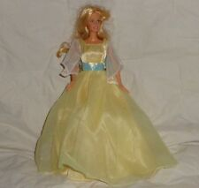 Barbie Doll Lot Blonde Hair Grows Rapunzel ? Yellow Dress Pull String