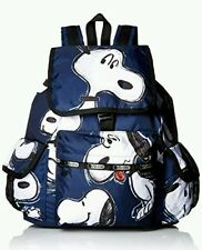 New LeSportsac X Peanuts Voyager Backpack Snoopy Toss One Size Blue