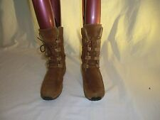 TIMBERLAND LADIES MID CALF TAN LACE UP LEATHER BOOTS SIZE UK 5 USA 7M
