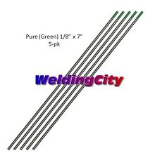 "5-pk TIG Welding Tungsten Electrode Pure (Green) 1/8""x7"" Free Ship 
