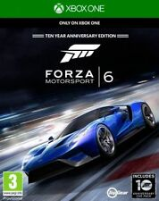 Xbox One Forza 6 with 10 Year Anniversary CAR Pack DLC  BRAND NEW