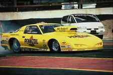 metal sign 573000 a canary yellow firebird spins its tires to heat them up a4 12