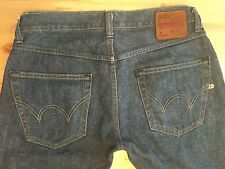 Authentic EDWIN ED-55 Selvedge Denim Made in Italy Straight Jeans Size 30 X 34