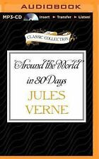 Around the World in 80 Days by Jules Verne (2015, MP3 CD, Unabridged)