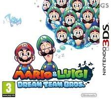 Mario & luigi dream team bros nintendo 3ds * new sealed pal *