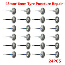 Universal 24pcs Car SUV Tyre Tire Puncture Repair Wired 6mm Plug Mushroom Patch