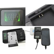 LCD Battery Charger With USB Port for Samsung GB/T18287-2000 EB-F1A2GBU Battery