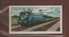 #15 French Electric Locomotive BB 9000 - Trains of the World Trade Card