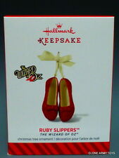2014 Ruby Slippers Wizard of Oz Porcelain 2014 NEW HALLMARK KEEPSAKE ORNAMENT