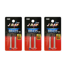 6 x BR435 CR435 435 3V Lithium Pin Type Battery Refills Fishing Bobber