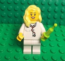 Lego EMT Doctor / Nurse Female Girl Mini Figure With Blonde Bright Yellow Hair