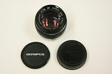 Olympus Zuiko Auto-S 50mmf1.4 manual focus lens with both caps