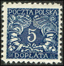 Scott # J24 - 1919 - ' Numerals of value ', For Southern Poland