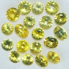 Natural 12.59 Carats Yellow Sapphire Lot 19 Pcs Oval Round Loose Gemstones