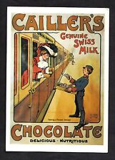C1990s Mumbles Railway Card reproduction poster Cailler's Swiss Milk Chocolate