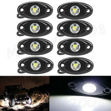 "8x 2"" White CREE LED Rock Light Off-Road Underglow Foot Wheel Well Lights Trucks"