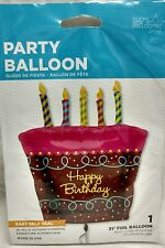 Cake Happy Birthday Balloon ~ HUGE 31 inches ~ Northstar ~ Quality ~ Selfsealing