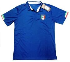 Italy Italia Soccer Calcio Futbol Jersey Blue w/ Flag Trim Polo Shirt Mens XL