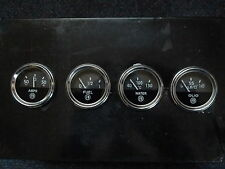 Great set of four classic or kit car gauges, new, Alfa logo