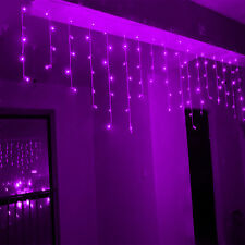 5M 216LED Snow Icicle Curtain Fairy Lights Hanging Christmas Garden Wall Decor
